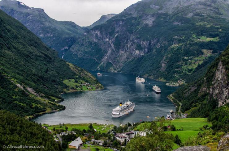 آبدره زیبا و روستای خوش منظره در نروژ