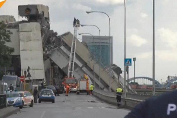 جزئیات حادثه فرو ریختن یک پل در ایتالیا