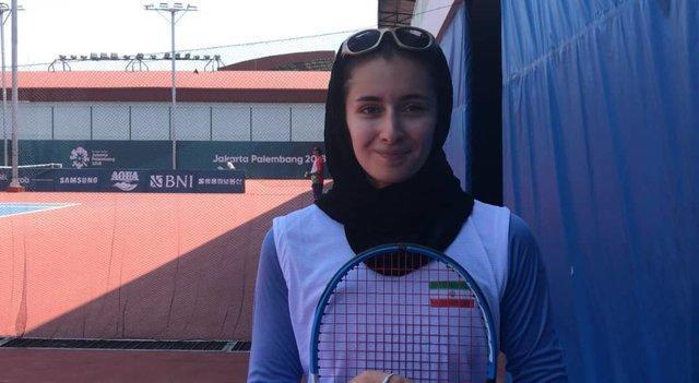 حذف دومین تنیس باز دختر ایران از بازی های آسیایی 2018