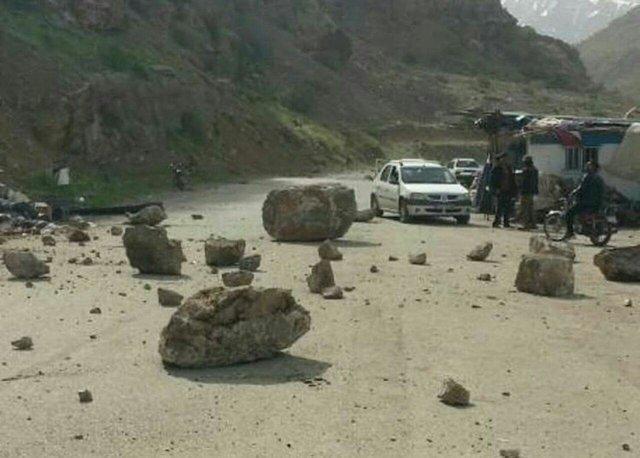 تمام راه های روستایی استان باز است، وقوع 6 ریزش کوه بر اثر زلزله