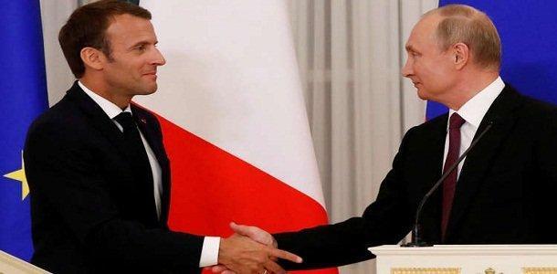 ماکرون: مذاکره با روسیه لازم است، به پوتین احترام می گذارم