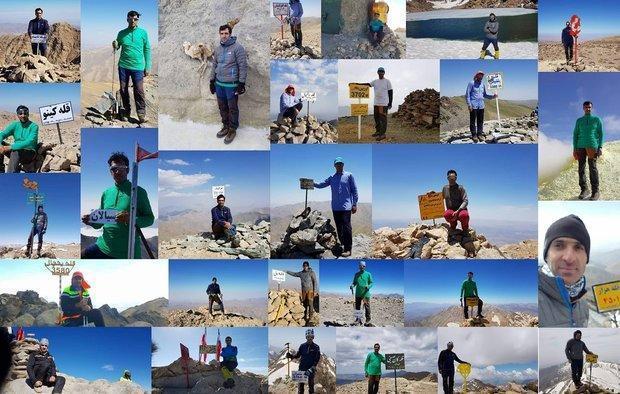 کوهنورد خارگی به 31 قله مرتفع کشور صعود کرد