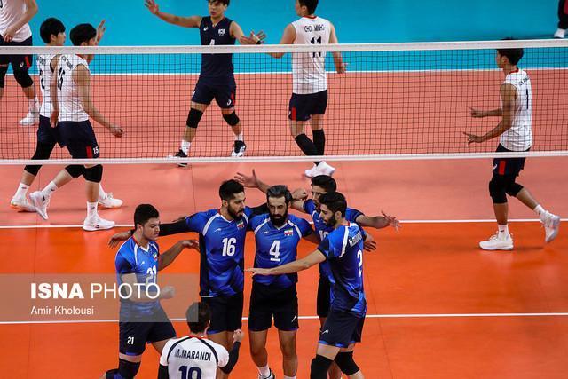 مصاف والیبال ایران با آمریکا در تورنمت تدارکاتی اسلوونی
