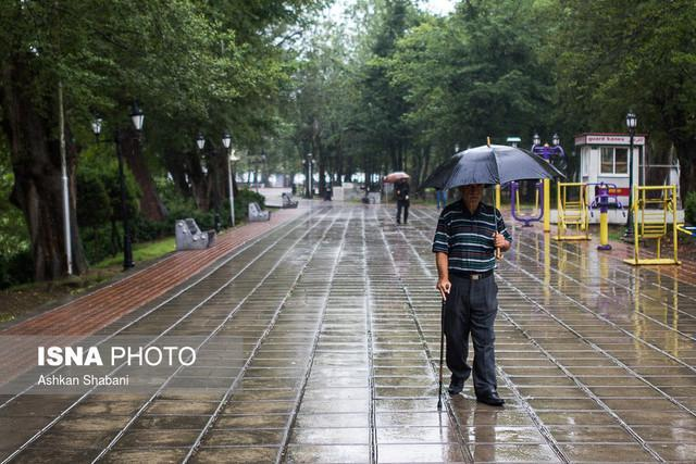 بارش پراکنده در استان های ساحلی دریای خزر