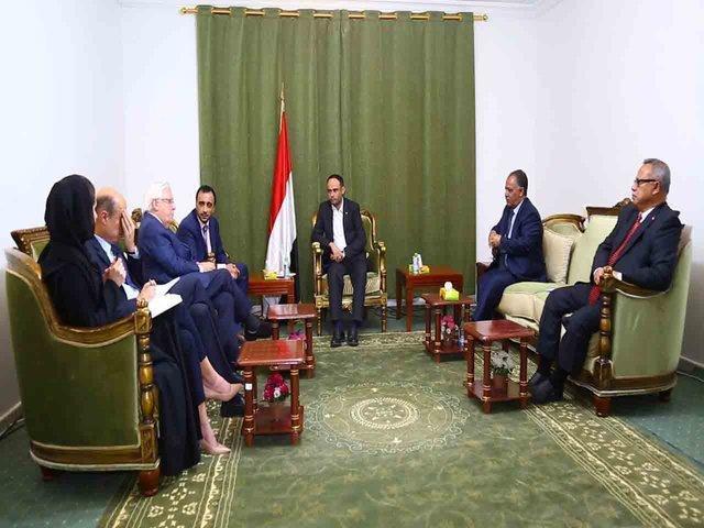 دیدار رئیس شورای عالی سیاسی یمن با گریفیتس در صنعا