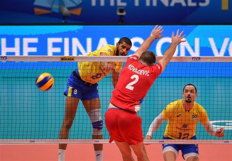 والیبال قهرمانی جهان، برزیل با شکست صربستان فینالیست شد