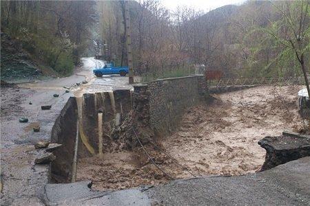 تخریب برخی مناطق رودبار در پی وقوع سیل