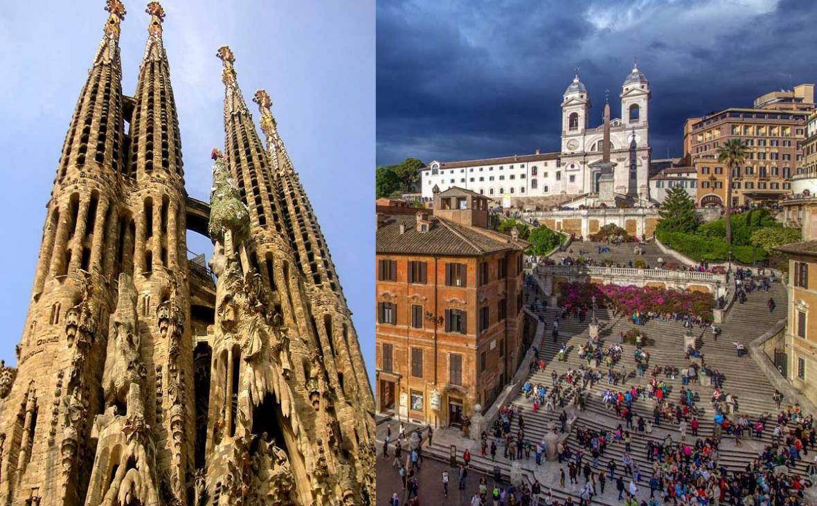 تور ایتالیا + اسپانیا 8 روز، تور رم 4شب+ تور بارسلون 3شب