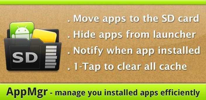 دانلود AppMgr Pro III 4.60 - برنامه انتقال برنامه ها از گوشی به مموری کارت اندروید
