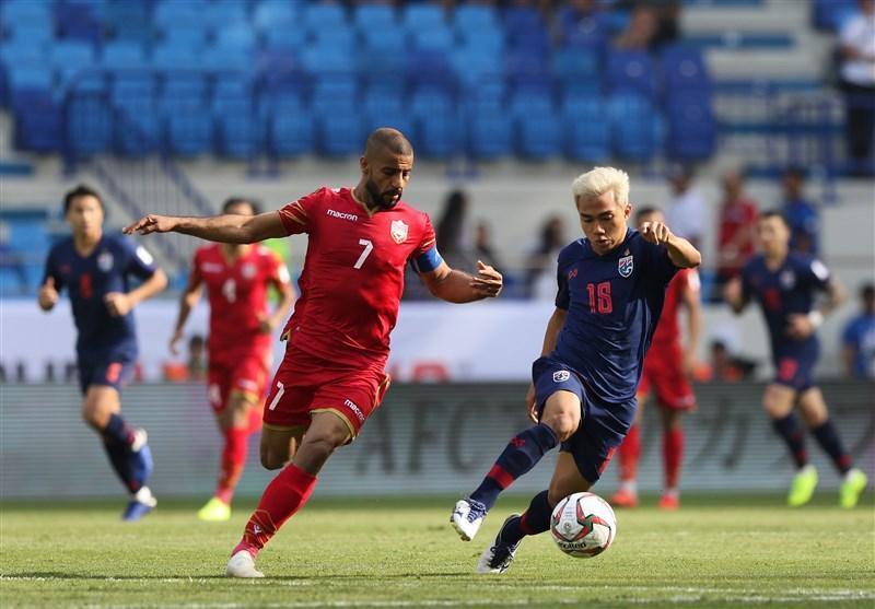 جام ملت های آسیا، تساوی بحرین و تایلند در انتها نیمه اول