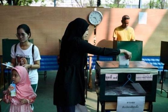 شروع انتخابات پارلمانی در تایلند