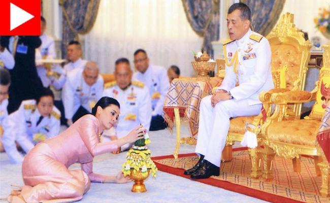 ازدواج پادشاه تایلند با محافظ شخصی اش!