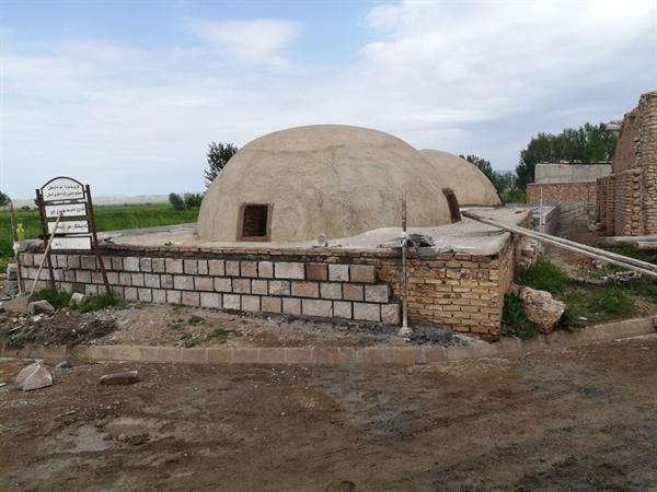 سامان دهی و تکمیل مرمت حمام تاریخی سرای هریس