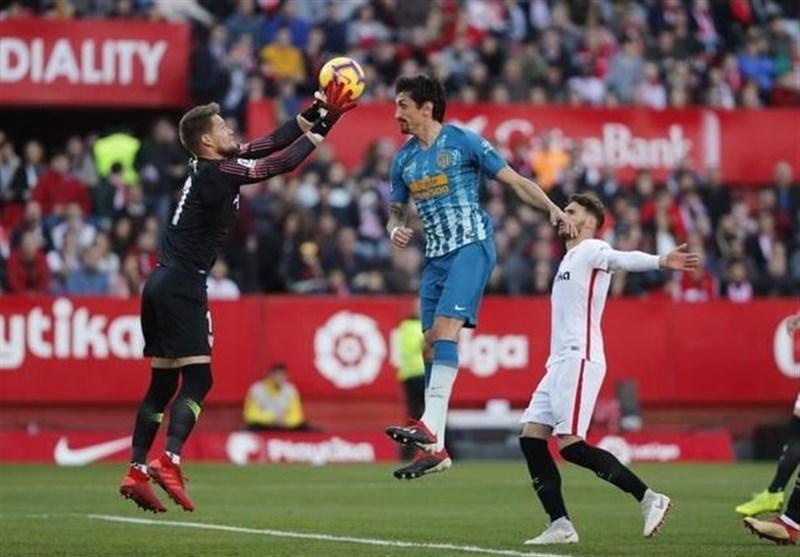 اتلتیکومادرید فرصت هم امتیاز شدن با بارسلونا را از دست داد