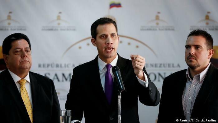 بیانیه خزانه داری آمریکا علیه مادورو و حمایت از گوایدو