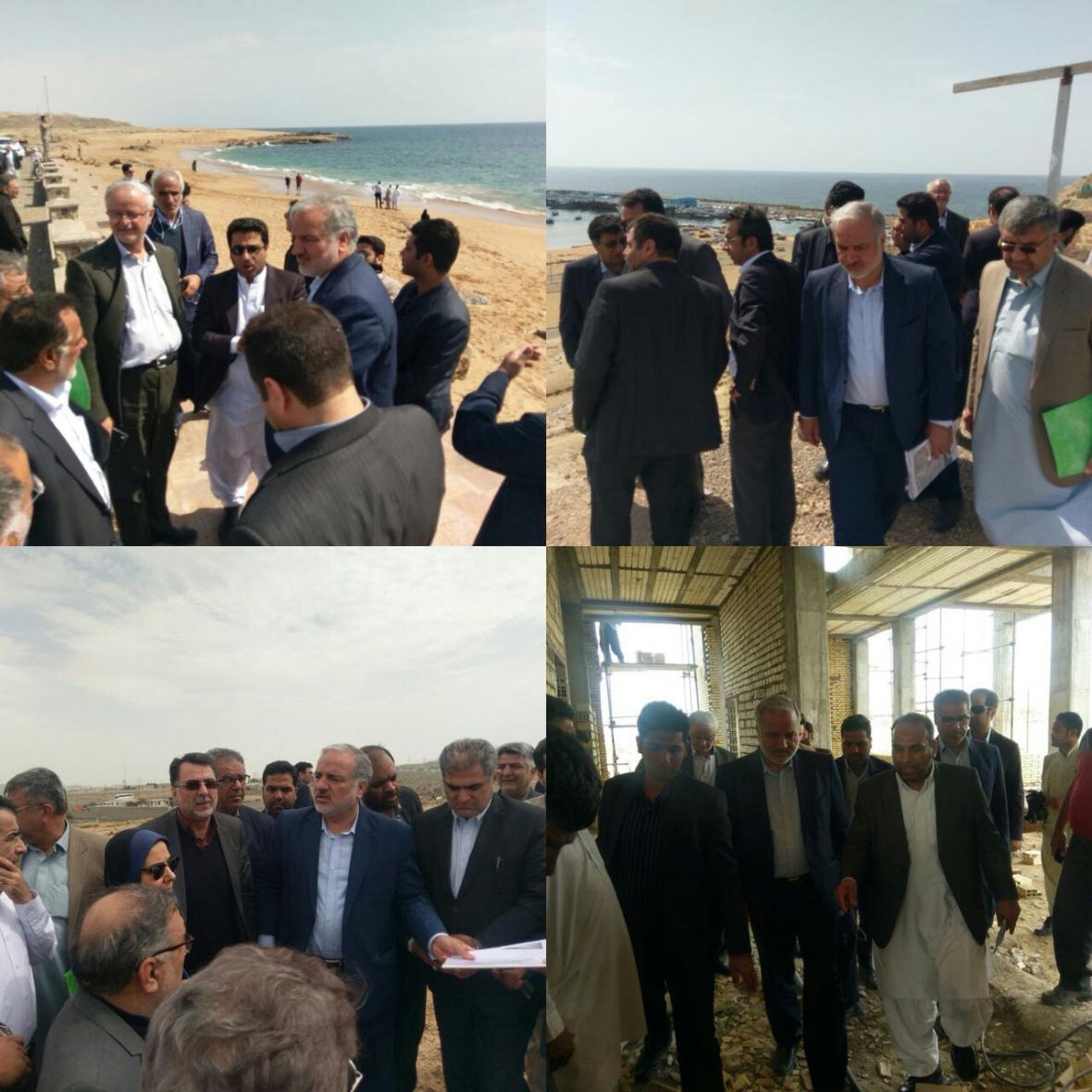 بازدید 3 معاون وزیر راه و شهرسازی از طرح های توسعه ای بندر چابهار