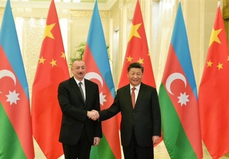 دیدار روسای جمهور چین و جمهوری آذربایجان در پکن