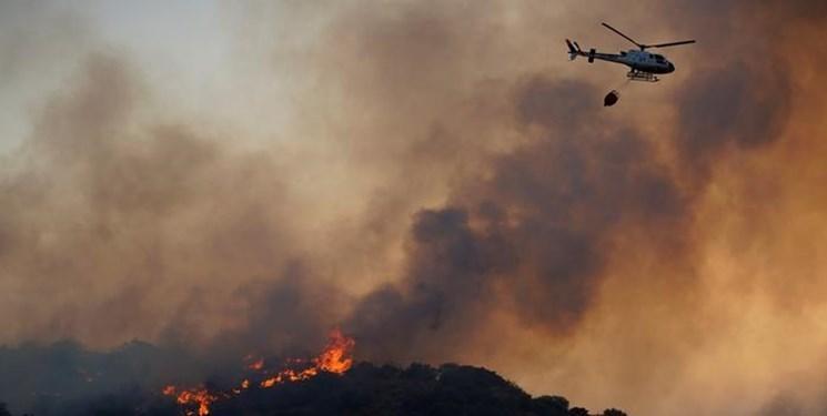 آتش سوزی گسترده دراسپانیا در پی ادامه گرمای شدید در اروپا