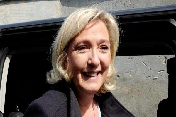 مارین لوپن پیروزی حزب خود در انتخابات مجلس اروپا را جشن گرفت