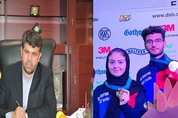 اولین مدال ایران در مسابقات میکس تیراندازی به دست آمد