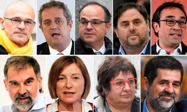 دیوان عالی اسپانیا 9 رهبر جدایی طلب کاتالونیا را به زندان محکوم کرد