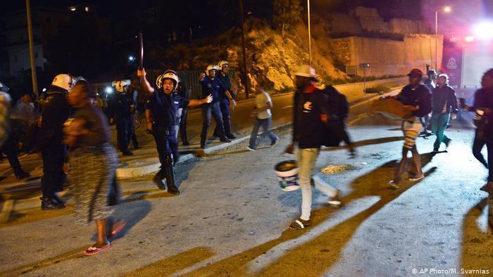 خشونت و درگیری در اردوگاه پناهندگان ساموس یونان