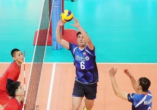 صعود والیبال ایران به نیمه نهایی جام کنفدراسیون آسیا