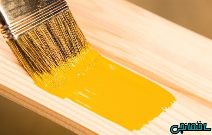 آموزش رنگ آمیزی درب چوبی