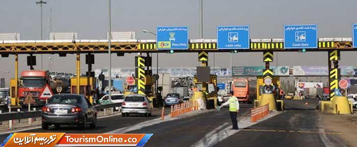 آزادراه قزوین-کرج-تهران ترافیک نیمه سنگین دارد