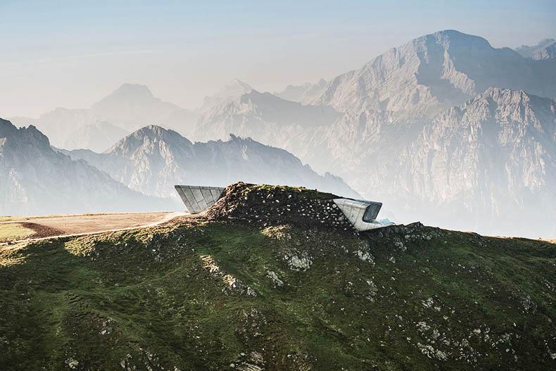 موزه کوهستانی مسنر در رشته کوه های آلپ، از عجایب بانو زاها حدید