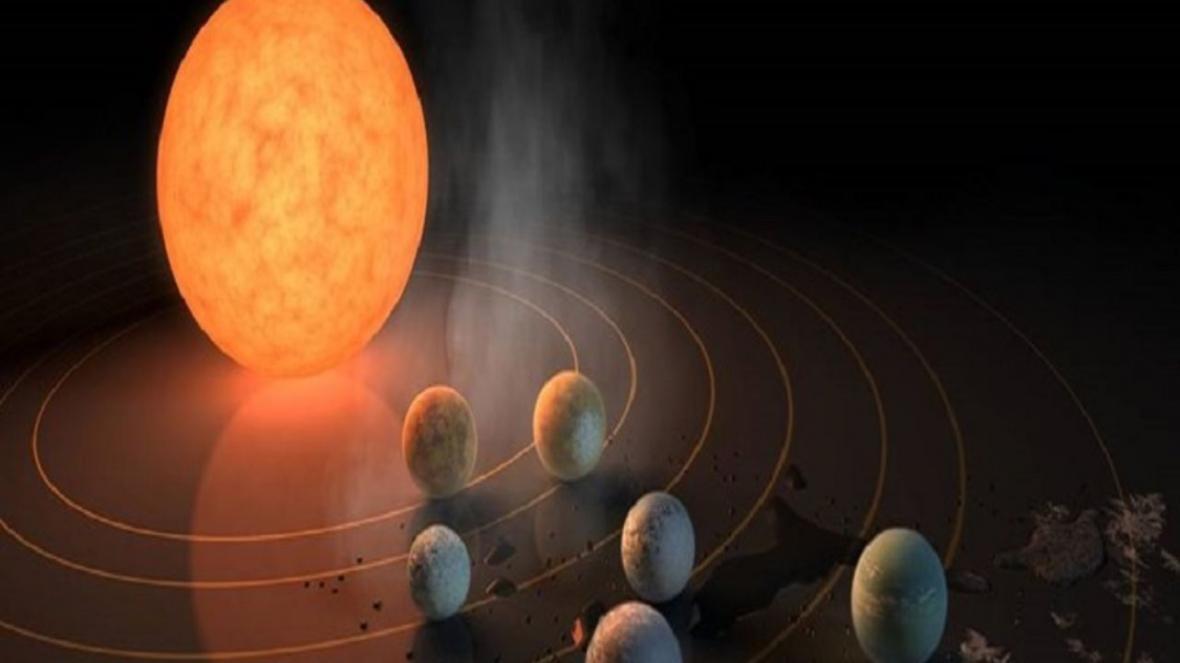 کشف ستاره کوتوله و 7 سیاره در مدار آن