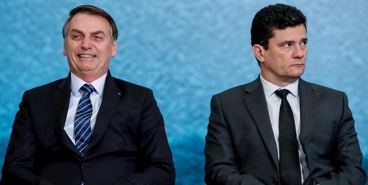 رویترز: وزیر دادگستری برزیل به دلیل اختلاف با بولسونارو کناره گیری می نماید