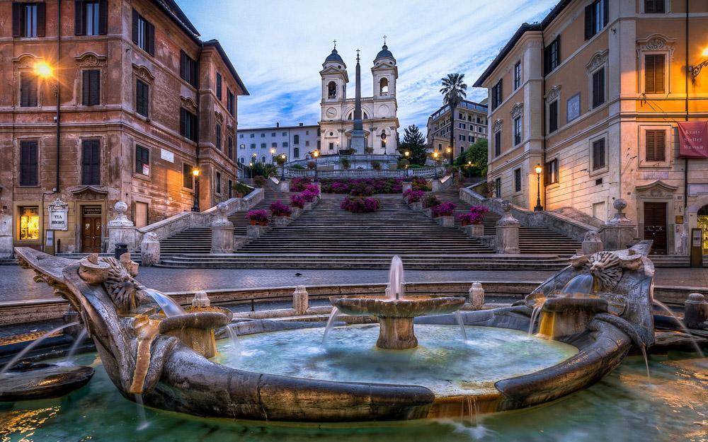 پله های اسپانیایی رم (ایتالیا)