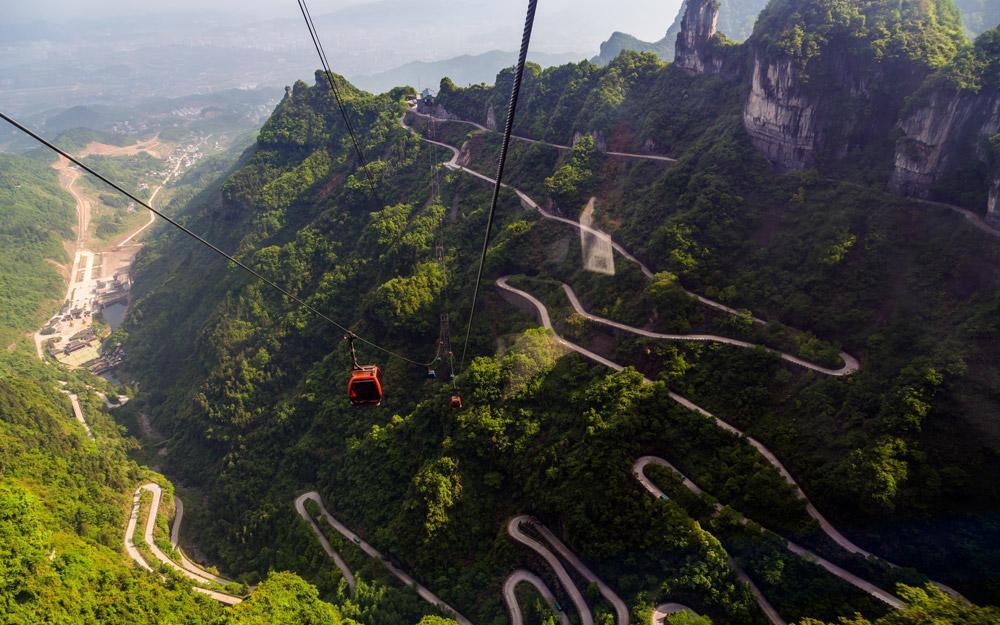 کوهستان تیانمن چین: راه پله ای به سمت دروازه بهشت