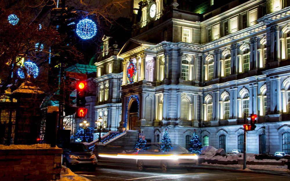 تجربه یک کریسمس نورانی در مونترال کانادا