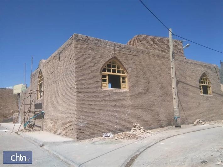 مشارکت انجمن میراث فرهنگی روستای سنگان در بازسازی بناهای تاریخی