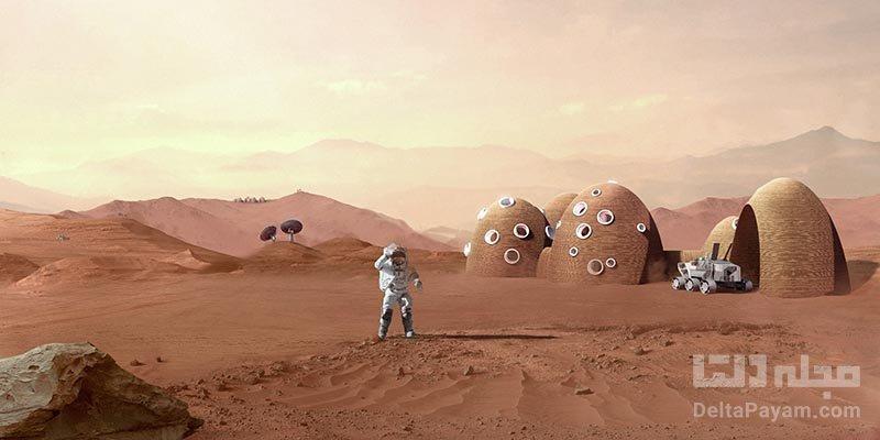 چاپ سه بعدی زیستگاه انسانی در ماه و مریخ