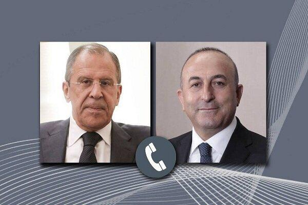 چاووش اوغلو و لاوروف تلفنی مصاحبه کردند