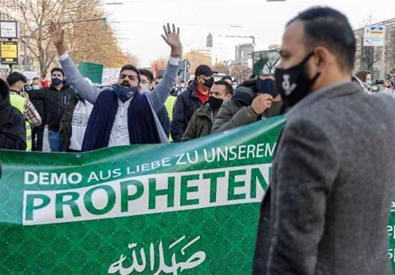 اعتراض مسلمانان در هامبورگ علیه رئیس جمهور فرانسه