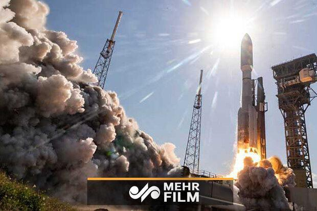 انفجار راکت ماهواره&zwnjبر آمریکا هنگام فرود عمودی