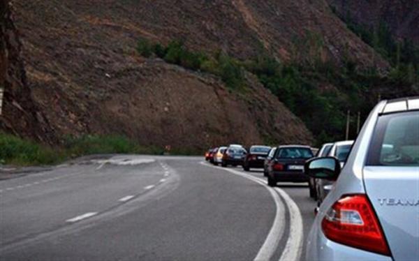ترافیک سنگین در جهت شمال به جنوب محور هراز