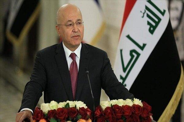 برهم صالح: بغداد خواهان حضور دائم نظامیان خارجی در عراق نیست