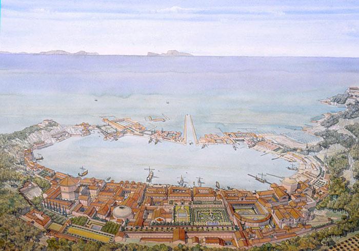 بایا شهر زیر آب ایتالیا